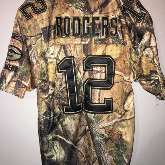 aaron rodgers camouflage jersey